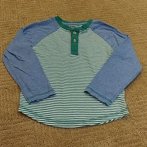 Adorable striped henley top, 4t